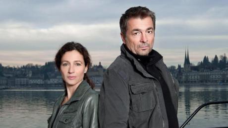 """Delia Mayer als Kommissarin Liz Ritschard und Stefan Gubser als Kommissar Reto Flückiger im Schweizer """"Tatort""""."""