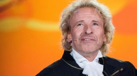 """Thomas Gottschalk bei der r Aufzeichnung seiner neuen TV-Show """"Gottschalks große 68er Show""""."""