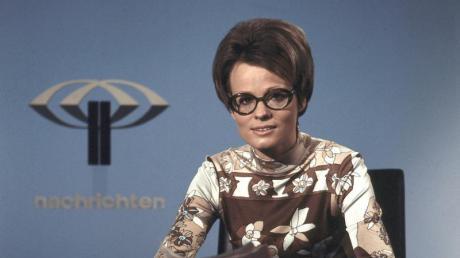 Die damalige ZDF-Nachrichtenmoderatorin Wibke Bruhns. Foto: Renate Schäfer/ZDF