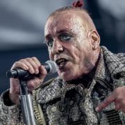 Till Lindemann, Frontman von Rammstein, in action. Foto: Christoph Soeder