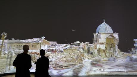 Die virtuelle Rekonstruktion der Großen Moschee des an-Nuri in Mossul. Foto: Oliver Berg