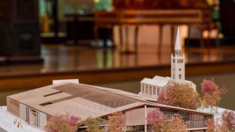 Das Modell des Siegerentwurfs des Basler Architekturbüros Herzog und de Meuron für das Museum des 20. Jahrhunderts.