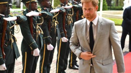 Prinz Harry trifft zu einer Audienz mit dem Präsidenten von Angola ein.Foto:Dominic Lipinski