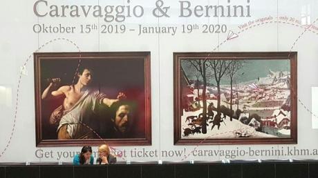 """Die Ausstellung """"Caravaggio & Bernini"""" ist vom 15. Oktober 2019 bis 19. Januuar 2020 im Kunsthistorischen Museum zu sehen. Foto: Harald Schneider/APA/dpa"""