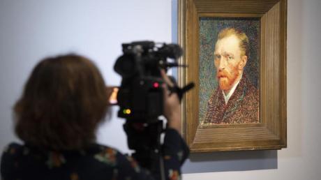 Berühmtes Selbstporträt von Vincent van Gogh aus dem Jahr 1887. Foto: Boris Roessler/dpa