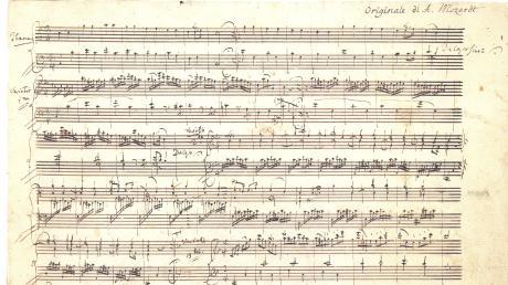"""Brachte Geld, das nun jedoch aufgebraucht ist: das 2008 verkaufte Autograf von Mozarts Klaviervariationen """"Ah, vous dirai-je Maman"""" (Ausschnitt)."""