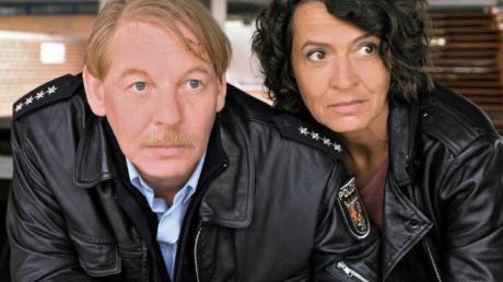 Ben Becker und Ulrike Folkerts im «Tatort - Die Pfalz von oben». Foto: SWR