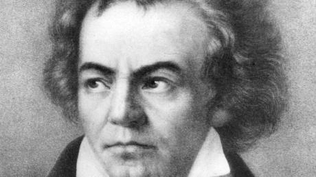 Ludwig van Beethoven auf einer zeitgenössischen Darstellung.