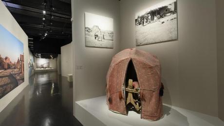 Blick in die Ausstellung «Al-Ula. Wunder von Arabien» im Pariser Institut der arabischen Welt.