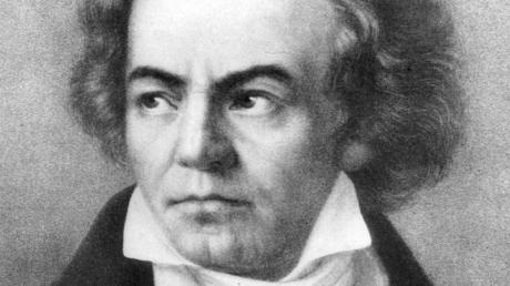 Der deutsche Komponist Ludwig van Beethoven auf einer zeitgenössischen Darstellung.