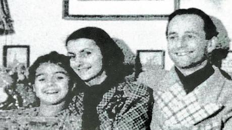 Max Bissinger, seine Frau Franziska und die gemeinsame Tochter. Die Ehe zerbrach und Bissinger kehrt 1968 allein nach Augsburg zurück.