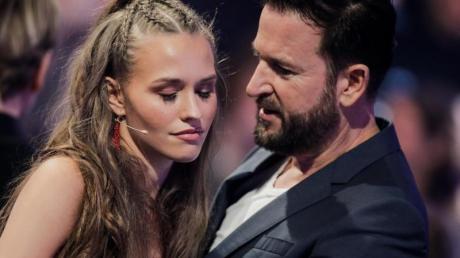Laura Müller und Michael Wendler in einer Werbepause der RTL-Tanzshow «Let's Dance» im Coloneum.