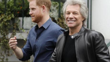 Prinz Harry nahm an den Aufnahmen der Bon-Jovi-Single «Unbrocken» teil.