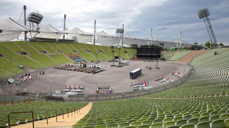 Das Münchner Olympiastadion, ein Ort, an dem es diesen Sommer sehr wahrscheinlich keine Großveranstaltung geben wird.