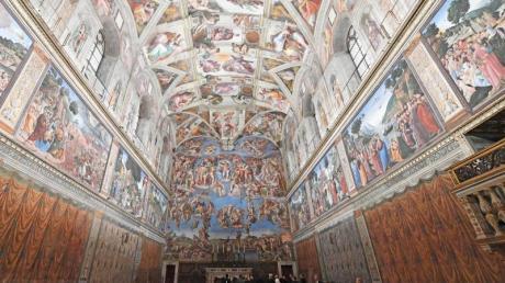 Innenanschicht der Sixtinischen Kapelle.