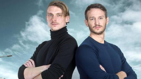 Die saarländischen «Tatort»-Hauptkommissare, Adam Schürk (Daniel Sträßer, l) und Leo Hölzer (Vladimir Burlakov). Wegen der Corona-Pandamie starten die Dreharbeiten mit Verspätung.