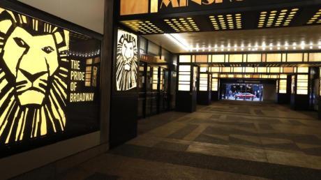 Geschlossen:das Minskoff Theatre, in dem das Musical «The Lion King» läuft.