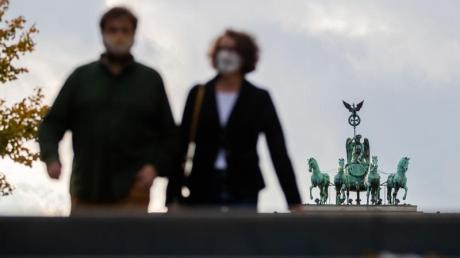 Die Quadriga auf dem Brandenburger Tor in Berlin.