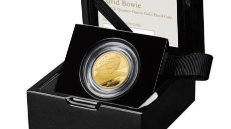 Eine Goldmünze der Royal Mint Collection ist David Bowie gewidmet.