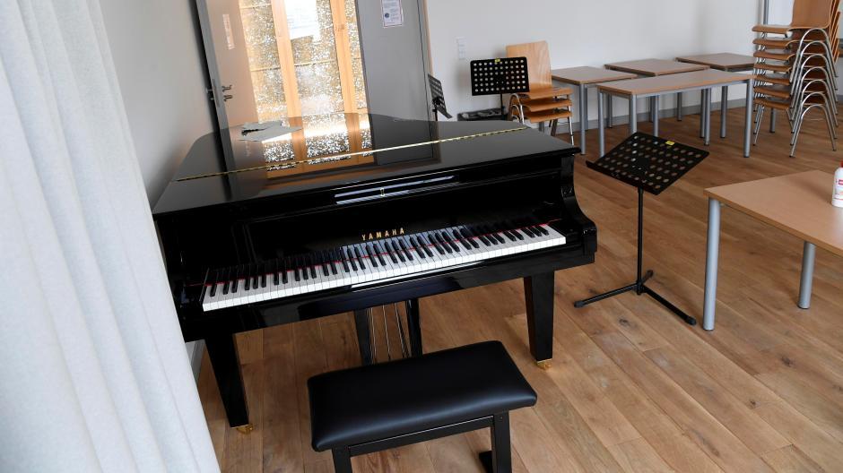 Über viele Wochen war das Üben und Unterrichten in den Räumen des Augsburger Leopold-Mozart-Zentrums nicht möglich - eine schwierige Zeit für die Studenten.