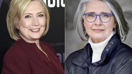 Hillary Clinton (l) hat zusammen mit Louise Penny einen Thriller geschrieben.