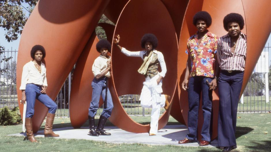 The Jacksons im Jahr 1978 mit (von links) Michael, Marlon, Randy, Jackie und Tito Jackson.