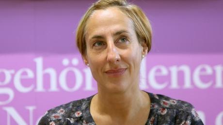 Die Autorin Judith Hermann 2014 auf der Buchmesse in Frankfurt/Main.
