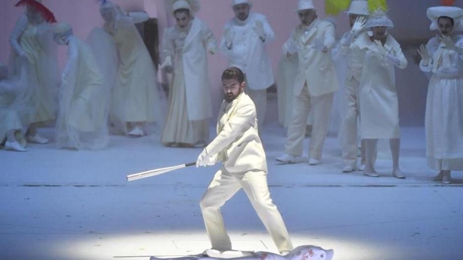 Davide Luciano als Don Giovanni im Großen Festspielhaus in Salzburg.