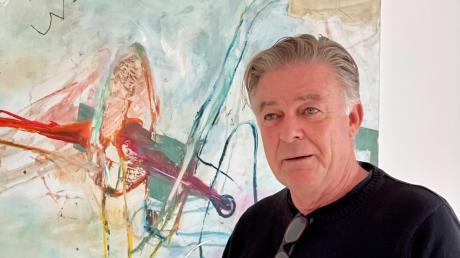 """Der Künstler Georg Kleber präsentiert """"Neues!"""" im Kunstraum am Pfarrhof in Leitershofen."""