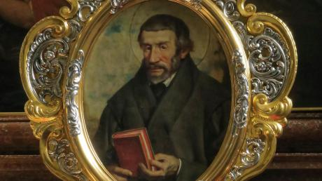 Der katholische Reformer Peter Canisius in einer Abbildung in der Jesuitenkirche in Innsbruck.