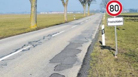 ... dafür wird die reparaturbedürftige Kreisstraße außerorts zwischen der Landkreisgrenze und Scheuring ab Herbst dieses Jahres erneuert.