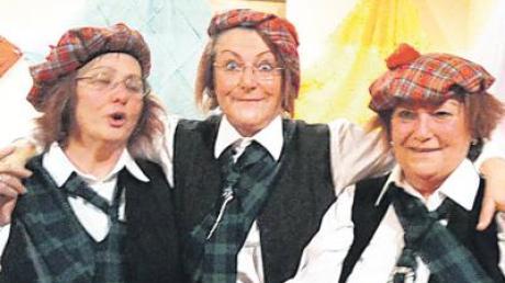 Hoch her ging es beim Weiberfasching des Katholischen Frauenbunds in Greifenberg, auch diesen Schotten gefiel es.