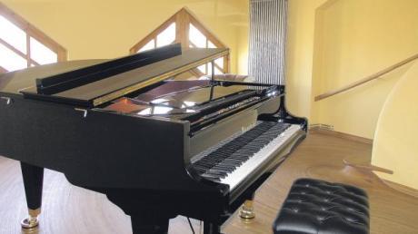 Das Zwischenstockwerk des Denklinger Klavierhauses.