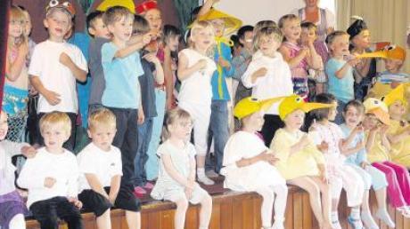 Die Kinder vom Kindergarten St. Martin in Penzing entführten die Besucher auf eine Reise.