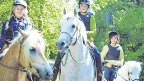 Auch Kinder hatten viel Spaß beim Texas-Trading-Wanderritt. Die jüngste Teilnehmerin war 13 Jahre alt.