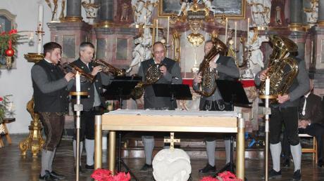 Die Dießener Bläser waren eine der Gruppen, die am Stephani-Konzert zugunsten der Renovierung von St. Johann teilnahmen.