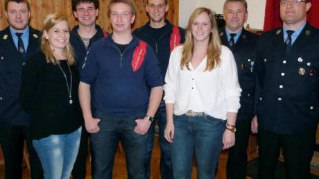 Die neugewählte Führungsriege der Feuerwehr Penzing.