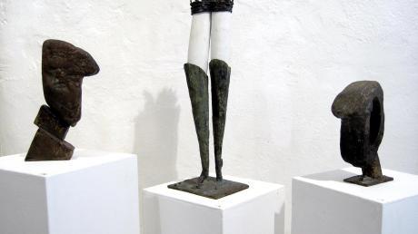 Egon Stöckle im Malura Museum mit Innenglanz, Blühendem Garten und Kopf. Material: Marmor und Bronze.