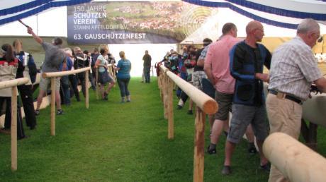 Heute ist der letzte Tag beim Gauschießen in Apfeldorf. Am Montag steigt ab 18 Uhr das Finalschießen.