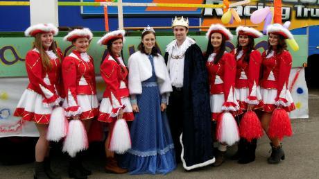 Faschingsprinz Lukas Bosch mit der Prinzessin Ramona Kaindl, diese beiden werden auch dieses Jahr wieder Prinz und Prinzessin sein.