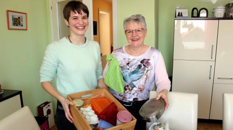 Wenn Marlis Walterham und ihre Tochter Kristina sich auf den Weg zum Einkaufen machen, haben sie Dosen, Becher, Eierkarton und Gläser dabei.