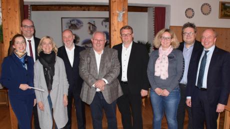 Der Kreisvorstand der Mittelstands-Union Landsberg (von links): Heidrun Hausen, Michael Kießling, Ingrid Assner-Rahn, Thomas Baier, Richard Heigl, Alex Philipper, Tina Friedrich sowie Alex Dorow und Bernhard Kösslinger.