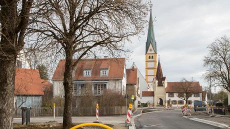 Etliche Baumaßnahmen, wie die Neugestaltung des Dorfplatzes, standen im vergangenen Jahr in Prittriching an.