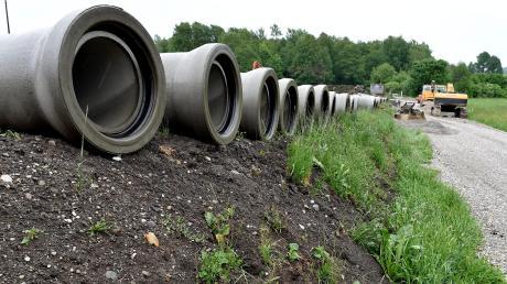 Die meisten anstehenden Großprojekte kann die Gemeinde Reichling alleine stemmen und das Geld dafür aus den Rücklagen entnehmen. Nur für die Kanalbaumaßnahme in Gimmenhausen (Bild) muss ein Kredit aufgenommen werden.