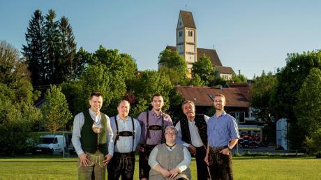 Der Arbeitskreis Festwochenende ist bestens vorbereitet, von links Maik Renger, Florian Mayr, Mathias Steber, Martina Boos, Wolfgang Stütz und Markus Mayr (nicht im Bild: Daniela Trischberger).