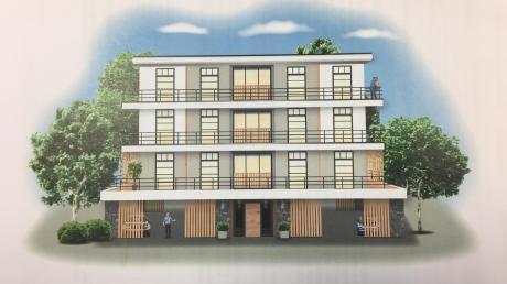 So könnten die Appartementhäuser für Mitarbeiter und Auszubildende am Landsberger Klinikum aussehen.