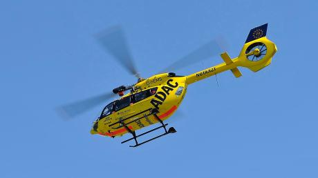 Mit einem Hubschrauber wurde ein vermisster Mann gesucht.