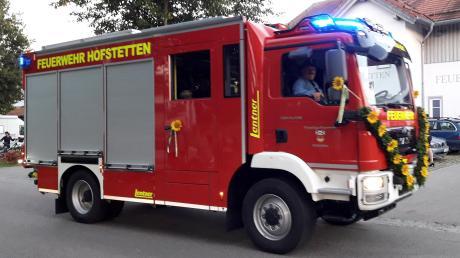 Das neue HLF 10 der Feuerwehr Hofstetten.