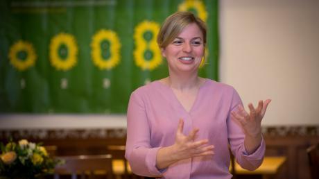 Die Fraktionsvorsitzende der Grünen im Bayerischen Landtag: Katharina Schulze in Windach