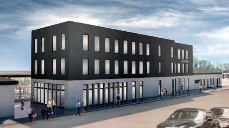 Das Bahnhofsgebäude in Geltendorf soll umgebaut werden. Der neue Besitzer und Investor hat entsprechende Pläne. So könnte es einmal aussehen.